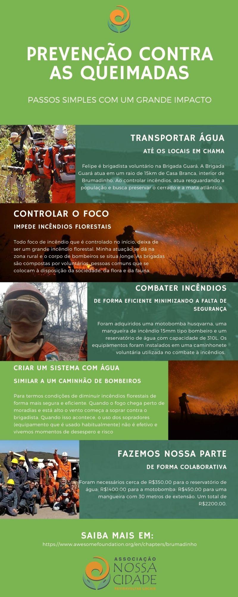 Levando Água até os Incêndios Florestais