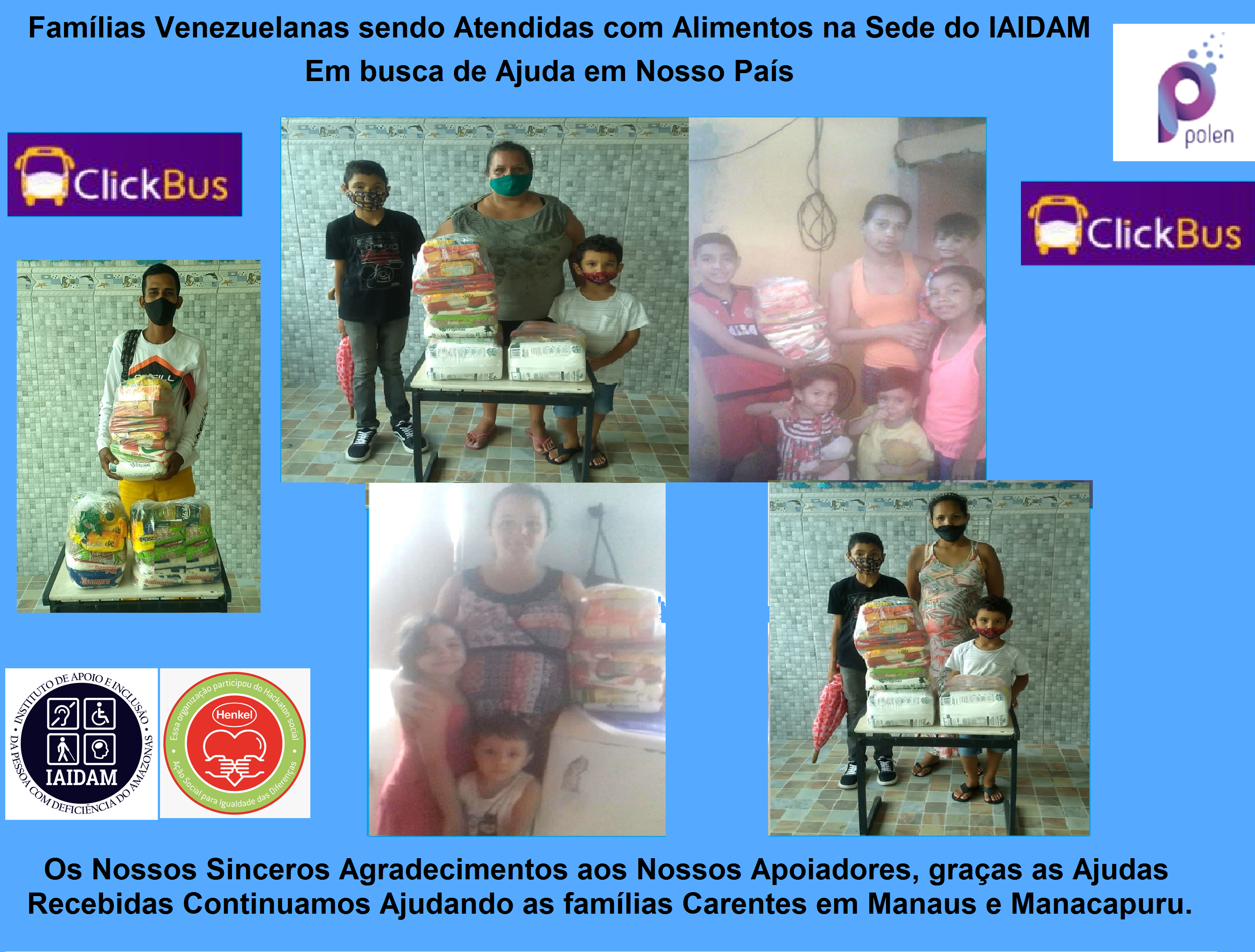 Famílias Venezuelanas sendo Atendidas